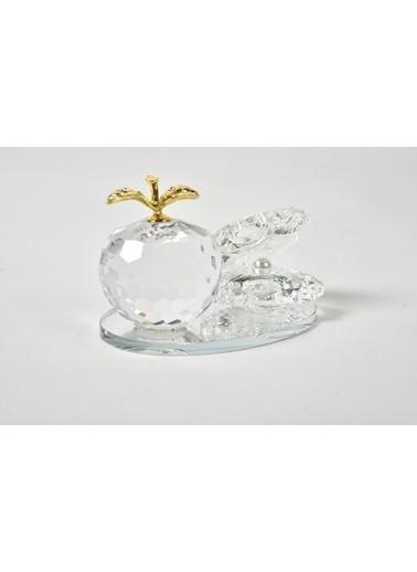 Seta Bianca Shıne Kristal Elmalı Tabla Küçük 4.5*8 Cm Renkli